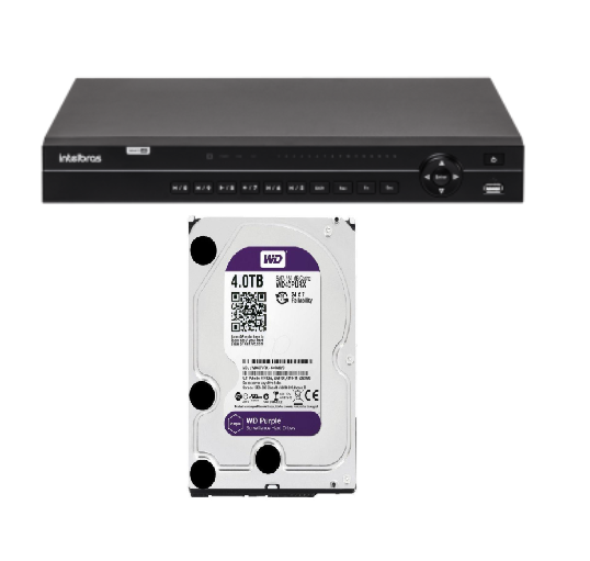 Dvr Multihd 32ch Mhdx 1132 Intelbras Cloud C/ Hd Wd Purple 4tb