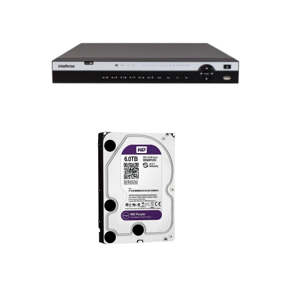Mhdx 5116 Gravador Digital de Vídeo 4k 16 Canais Intelbras Com Hd 6TB