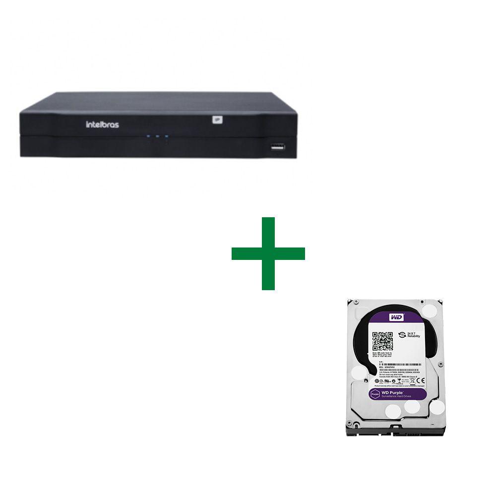 NVD 1108 Gravador de vídeo digital em rede Com HD 2TB