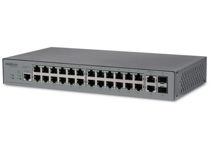 SF 2622 MR L2 Switch gerenciável com 24 portas Fast Ethernet+ 2 portas Mini-Gbic