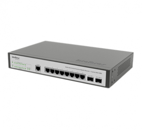 SG 1002 MR Switch Gerenciável 8 portas Gigabit Ethernet + 2 portas Mini-GBIC