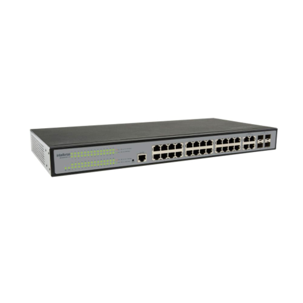 SG 2404 MR L2+ Switch gerenciável 24P Giga + 4P GBIC Intelbras