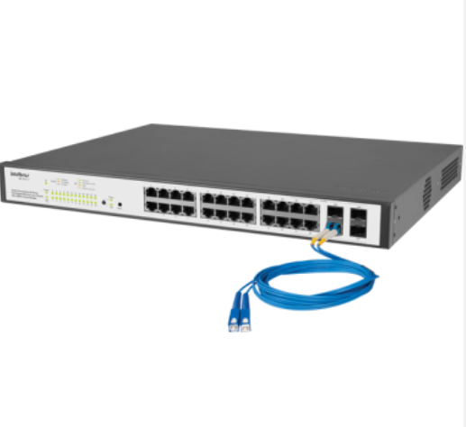 SG 2404 PoE Switch Gerenciável 24 portas PoE Gigabit Ethernet com 4 Mini-GBIC compartilhadas