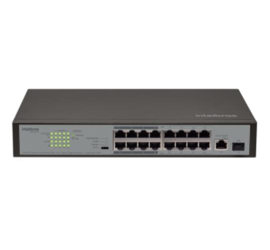 Switch 16P Fast PoE com 1P Gigabit e 1P SFP SF 1811 PoE