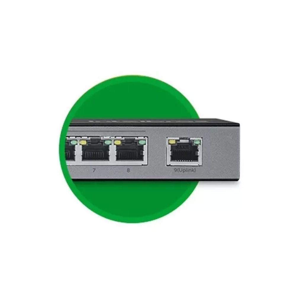 Switch 9 Portas Fast Ethernet Com 8 Portas Poe Sf 900