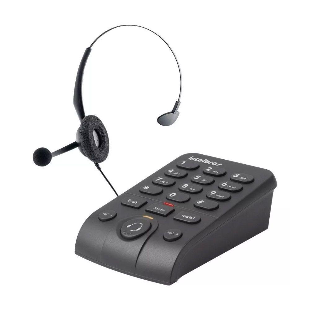 Telefone Intelbras Headset Base Discadora Hsb50 Empresarial