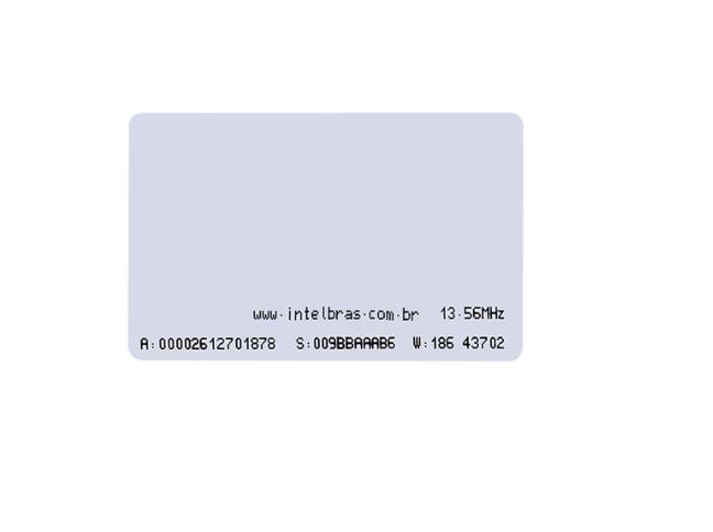 TH 2000 MF Cartão de proximidade RFID 13,56 MHz Intelbras