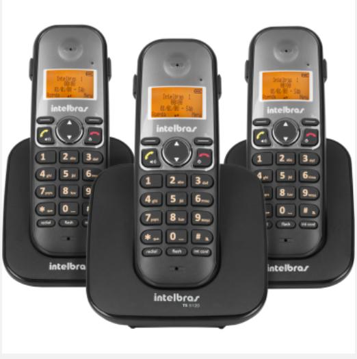 TS 5123 Telefone sem fio digital com dois ramais adicionais