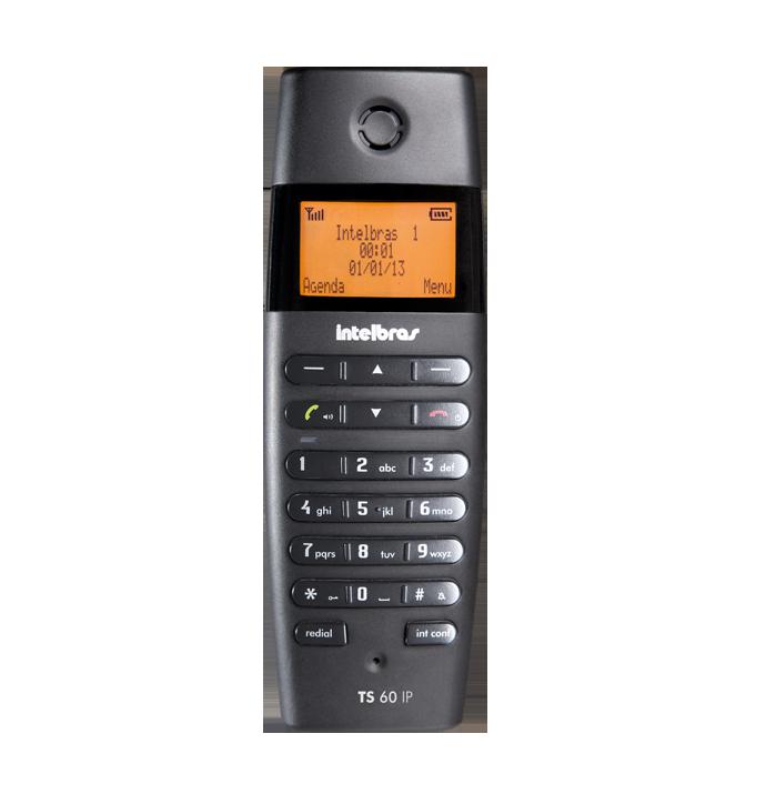 TS 60 IPR - Telefone Ramal DECT para central TS 60 IP