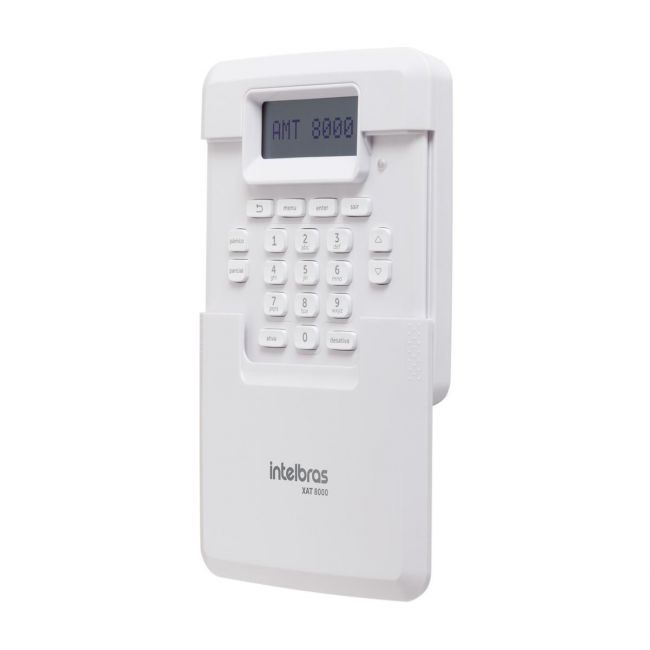 Teclado Sem Fio Xat 8000 Para Centrais De Alarme Intelbras
