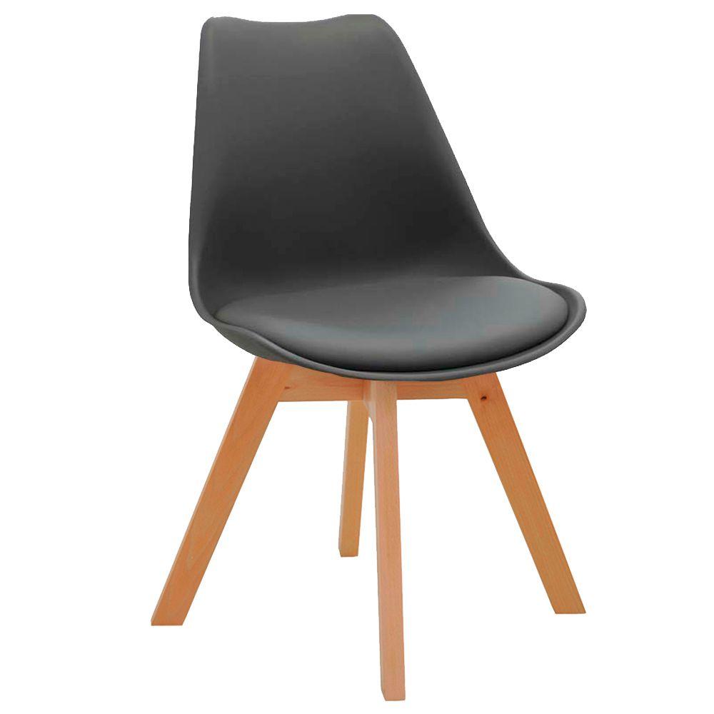 Cadeira Decorativa Sala e Escritório SelfCare (PP) Cinza - Gran Belo