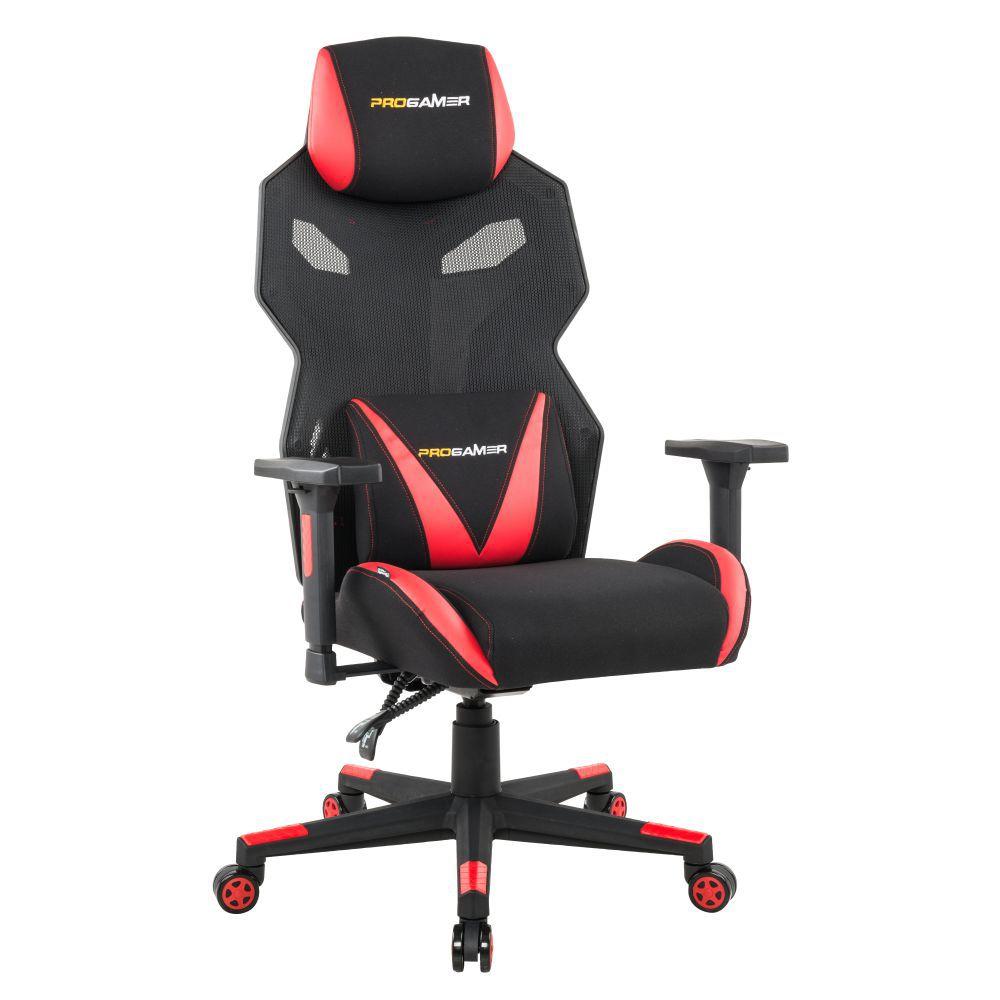 Cadeira Gamer Executiva PRO-X Gaming Reclinável Giratória Preto/Vermelho - Gran Belo