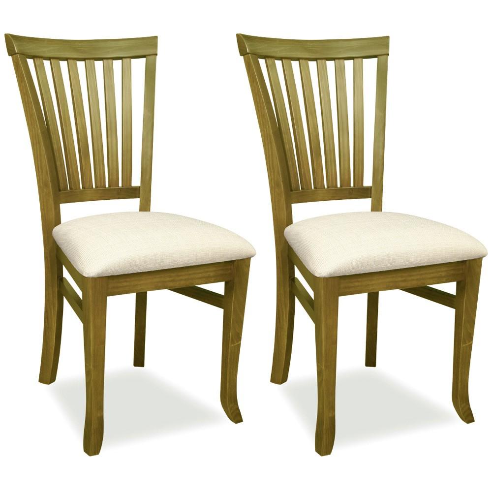Kit 02 Cadeiras Para Sala de Jantar Cozinha Vitte Oregon Linho Rústico Bege - Gran Belo