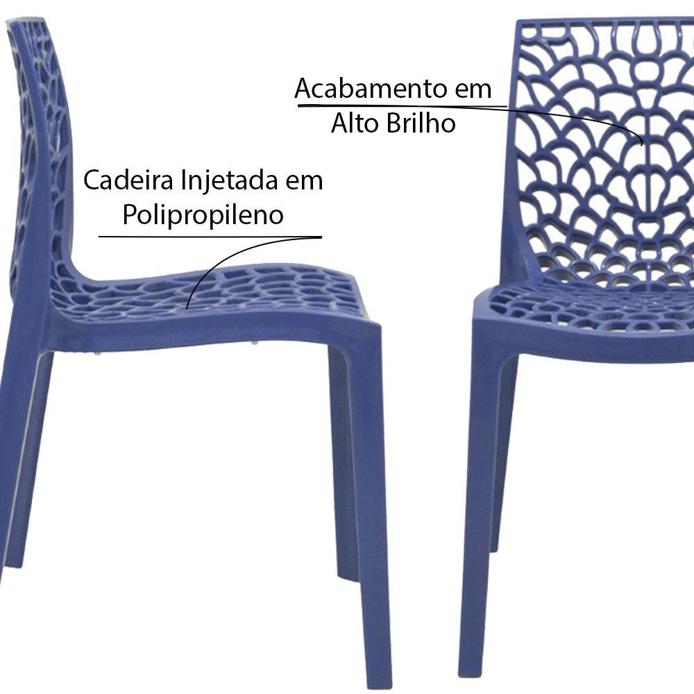 Kit 6 Cadeiras Decorativas Sala e Cozinha Cruzzer (PP