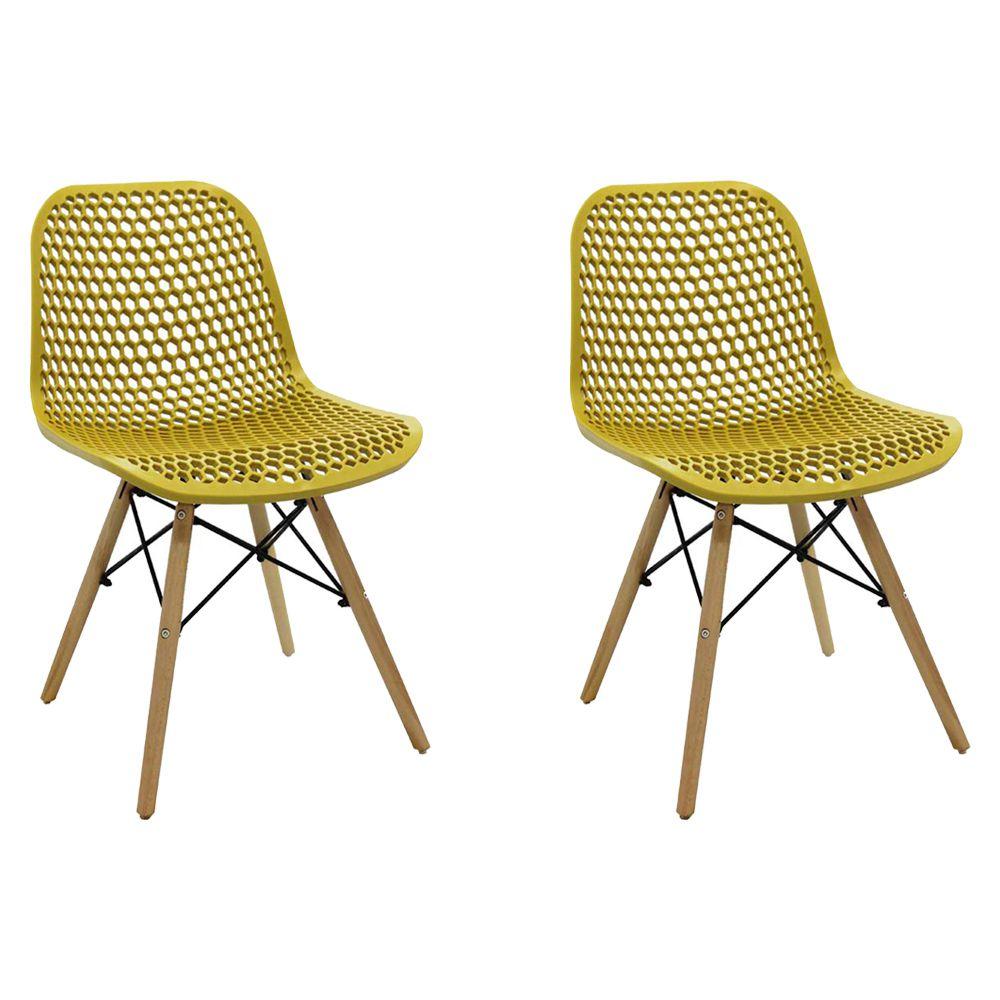 Kit 2 Cadeiras Decorativas Sala e Cozinha Haney (PP