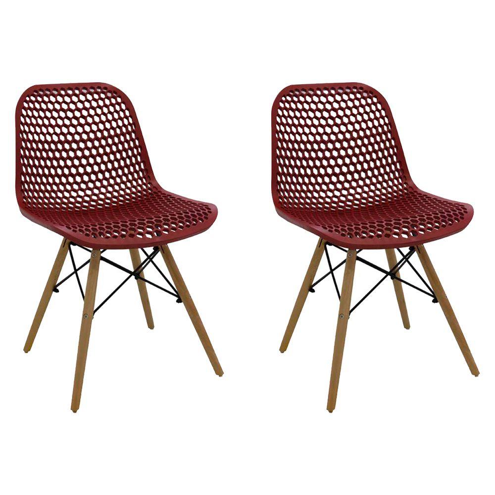 Kit 2 Cadeiras Decorativas Sala e Cozinha Haney (PP) Nude