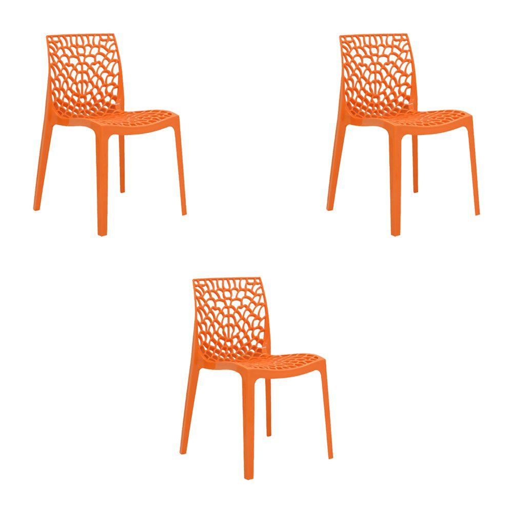 Kit 4 Cadeiras Decorativas Sala e Cozinha Phama (PP) Verde