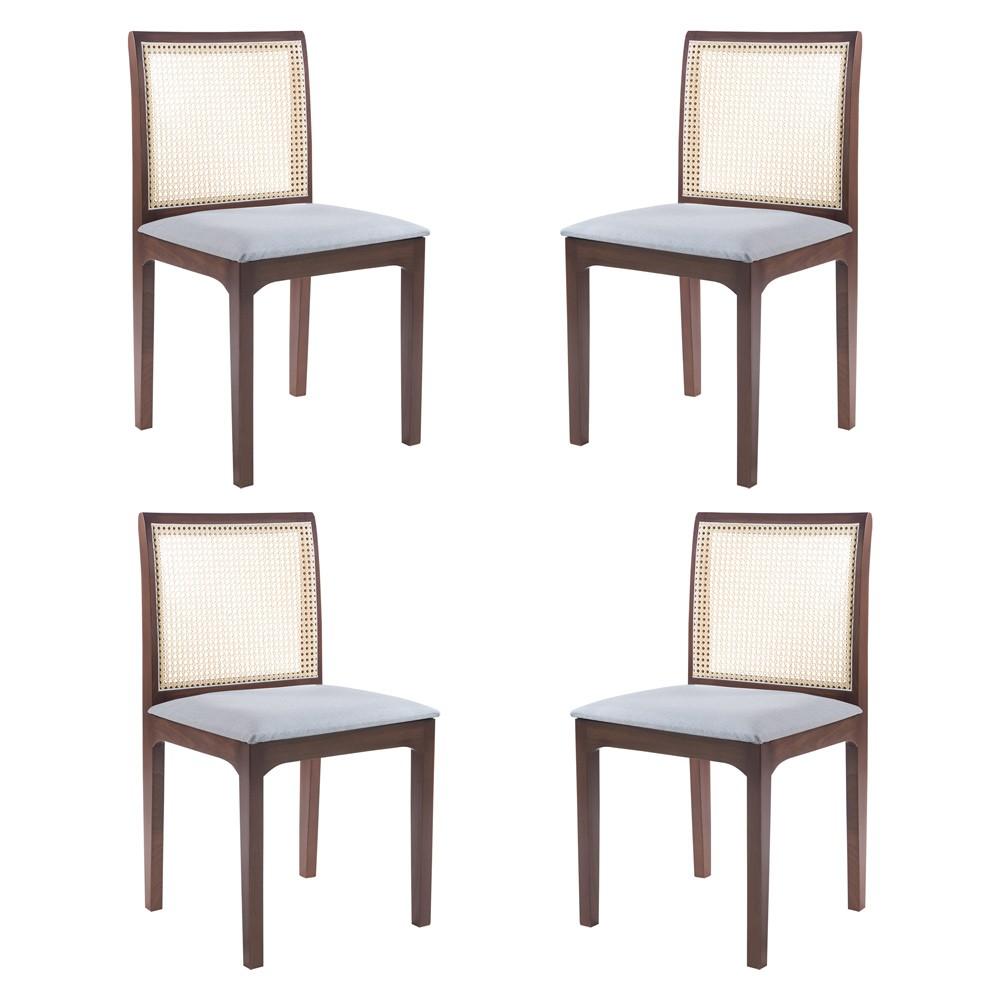 Kit 4 Cadeira Decorativa Sala de Jantar Steve Amêndoa - Gran Belo