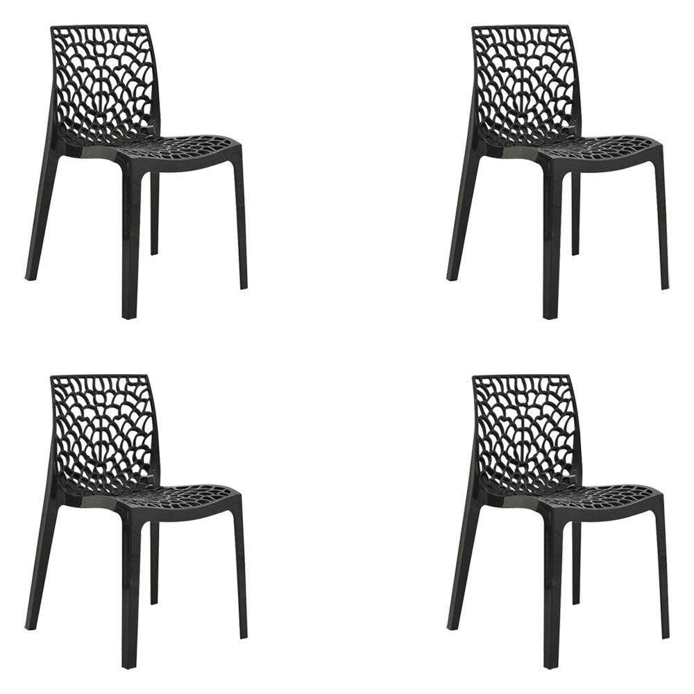 kit 4 Cadeiras Decorativas Sala e Cozinha Cruzzer (PP