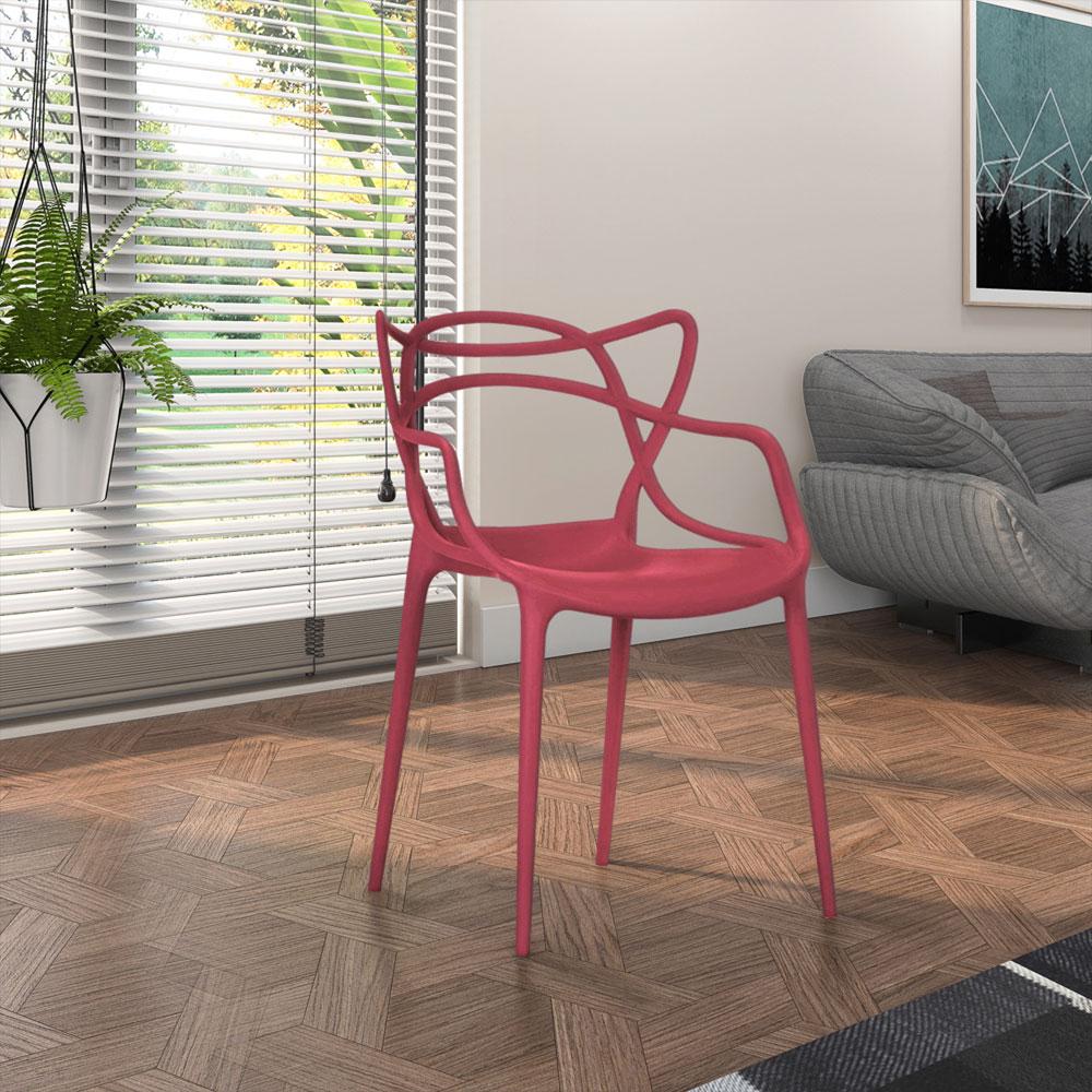 Kit 2 Cadeiras Decorativas Sala e Cozinha Cruzzer (PP