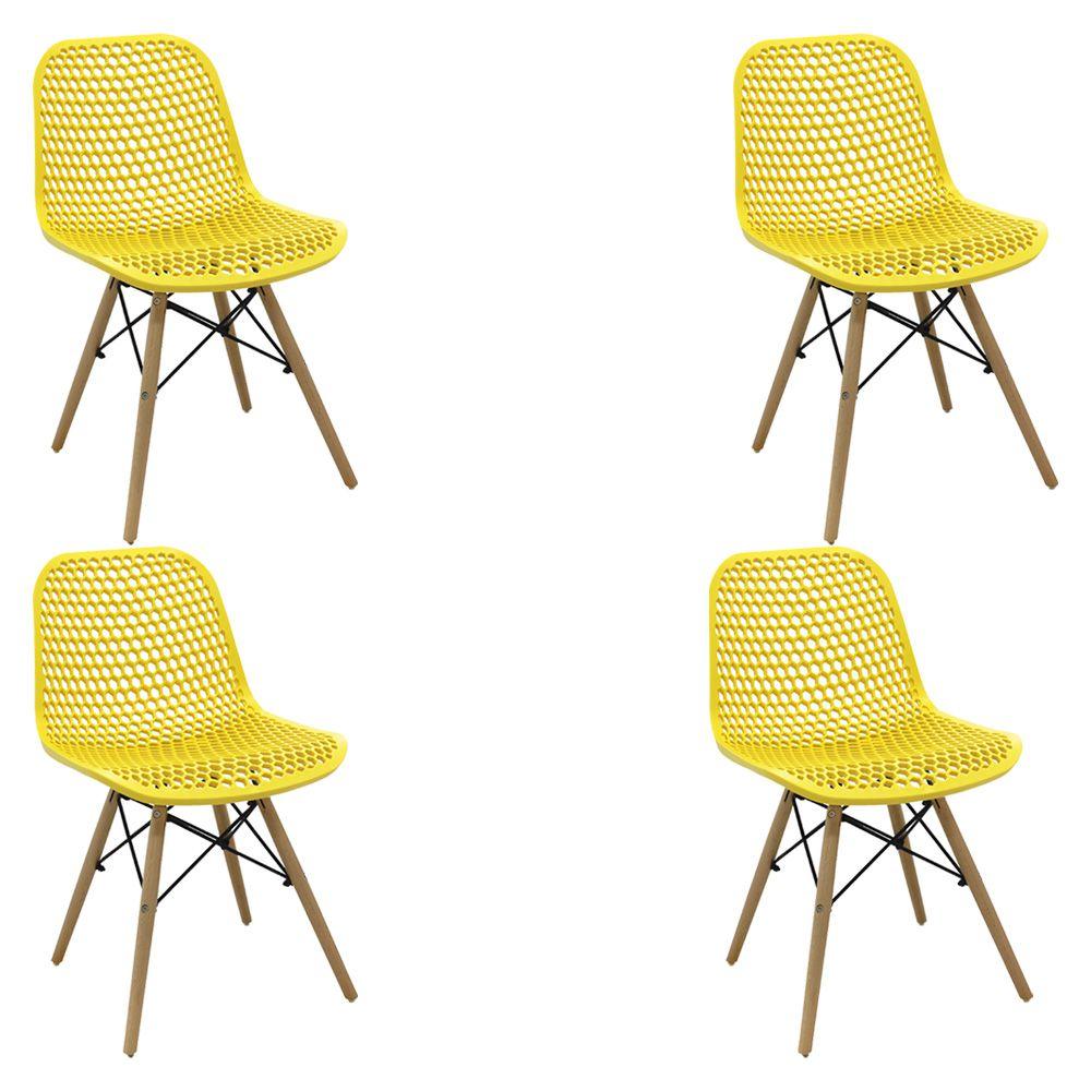 Kit 2 Cadeiras Decorativas Sala e Cozinha Haney (PP) Verde