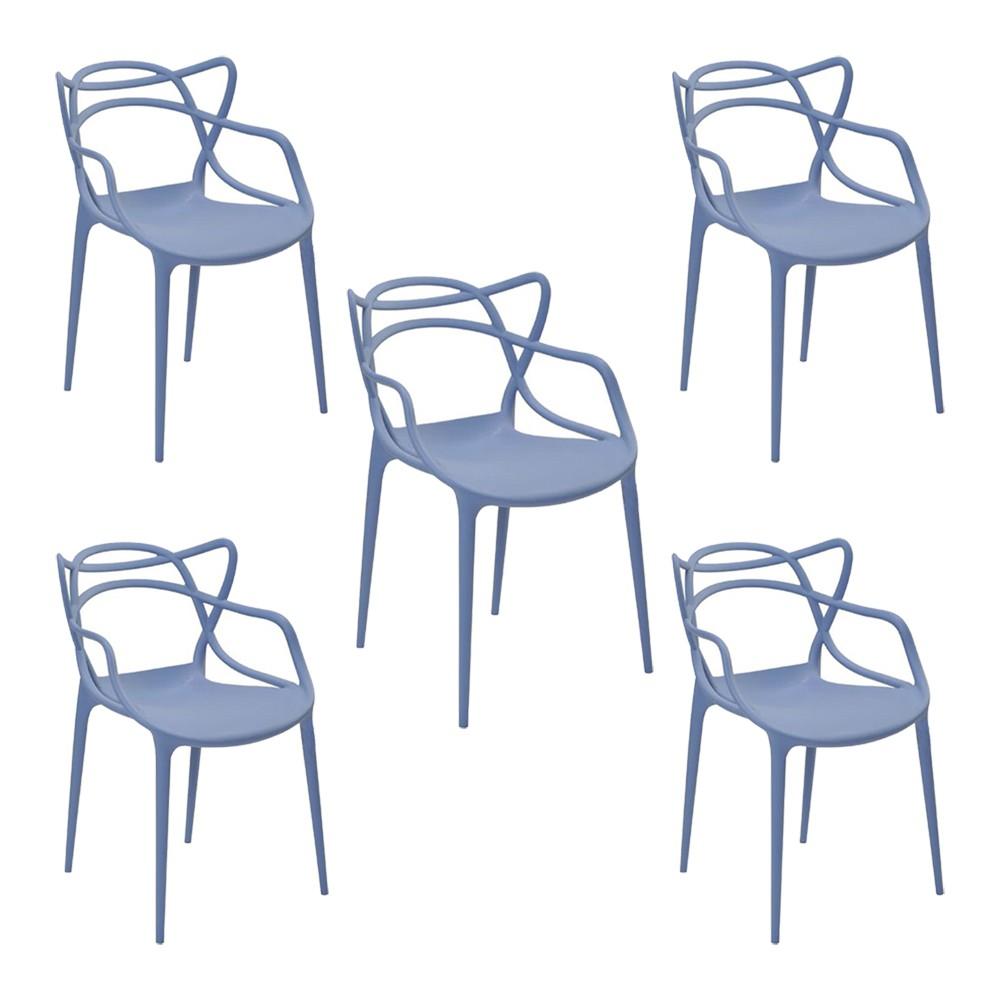 Kit 6 Cadeiras Decorativas Sala e Cozinha Feliti (PP) Nude