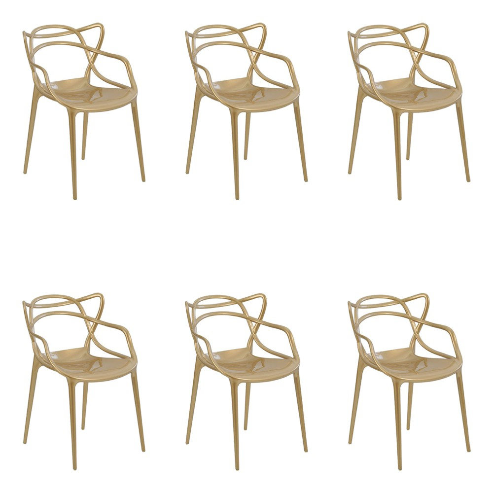 kit 4 Cadeiras Decorativas Sala e Cozinha Feliti (PP) Nude
