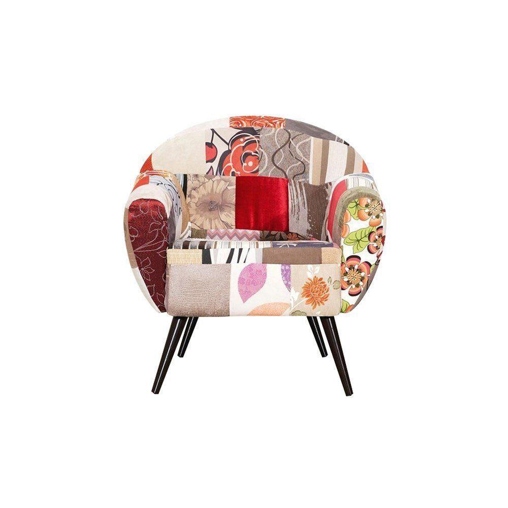 Poltrona Decorativa Sacha Patchwork - Gran Belo