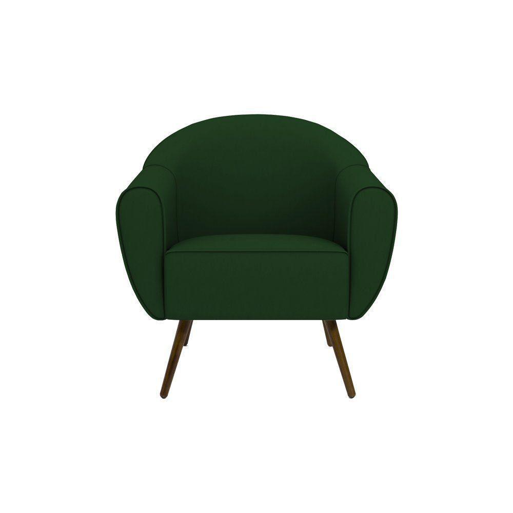 Poltrona Decorativa Sacha Veludo Verde - Gran Belo