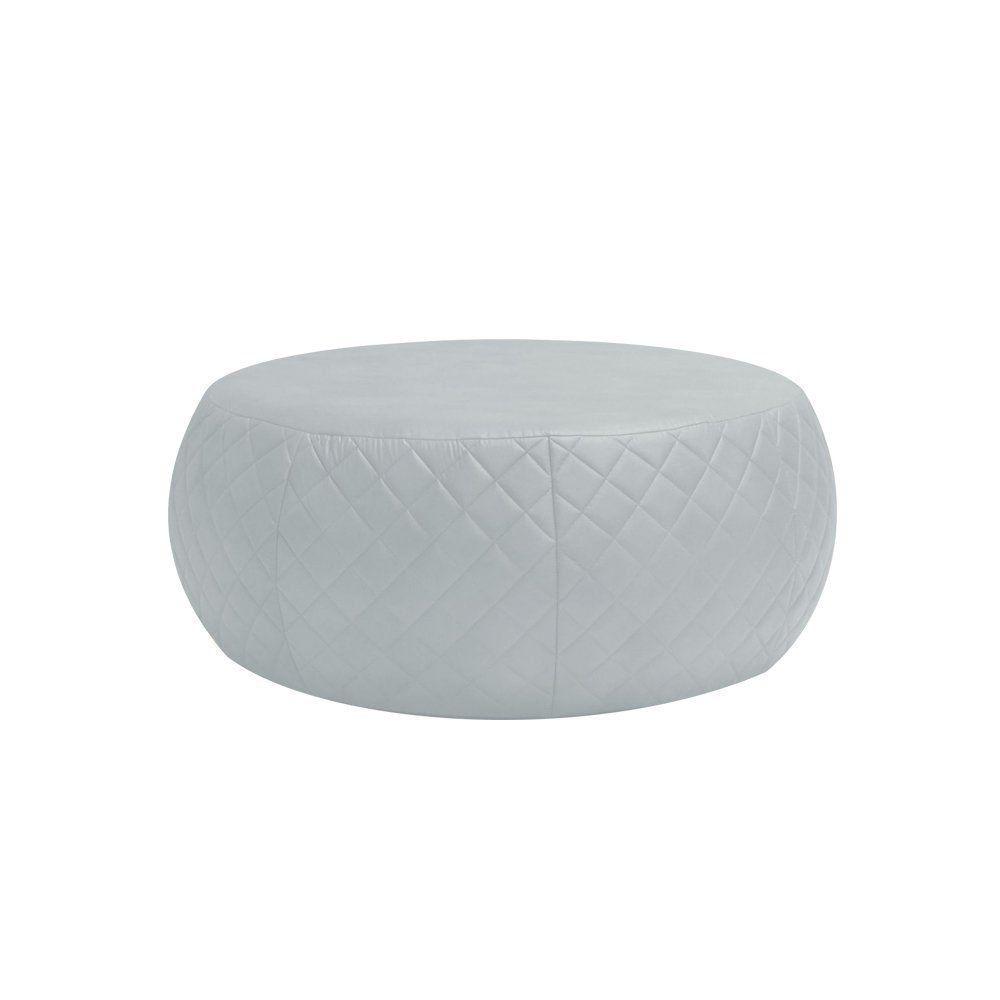 Puff Cleo 105cm Trêsse Corano Branco - Gran Belo