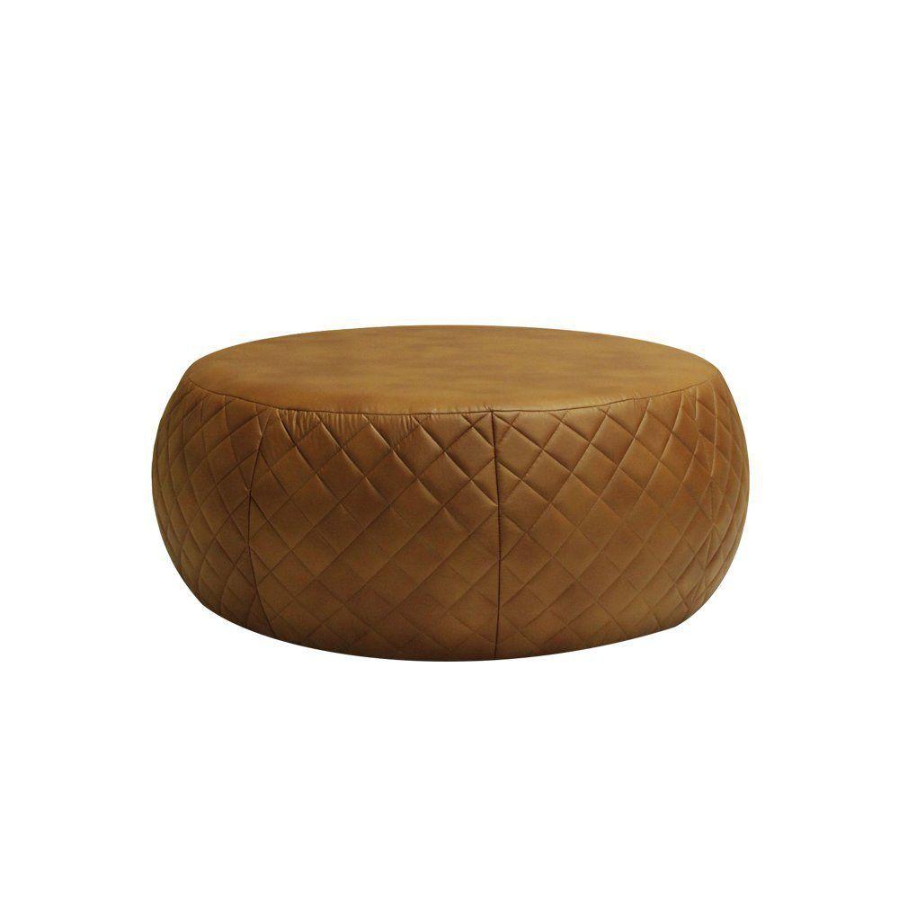 Puff Cleo 105cm Trêsse Corano Caramelo - Gran Belo