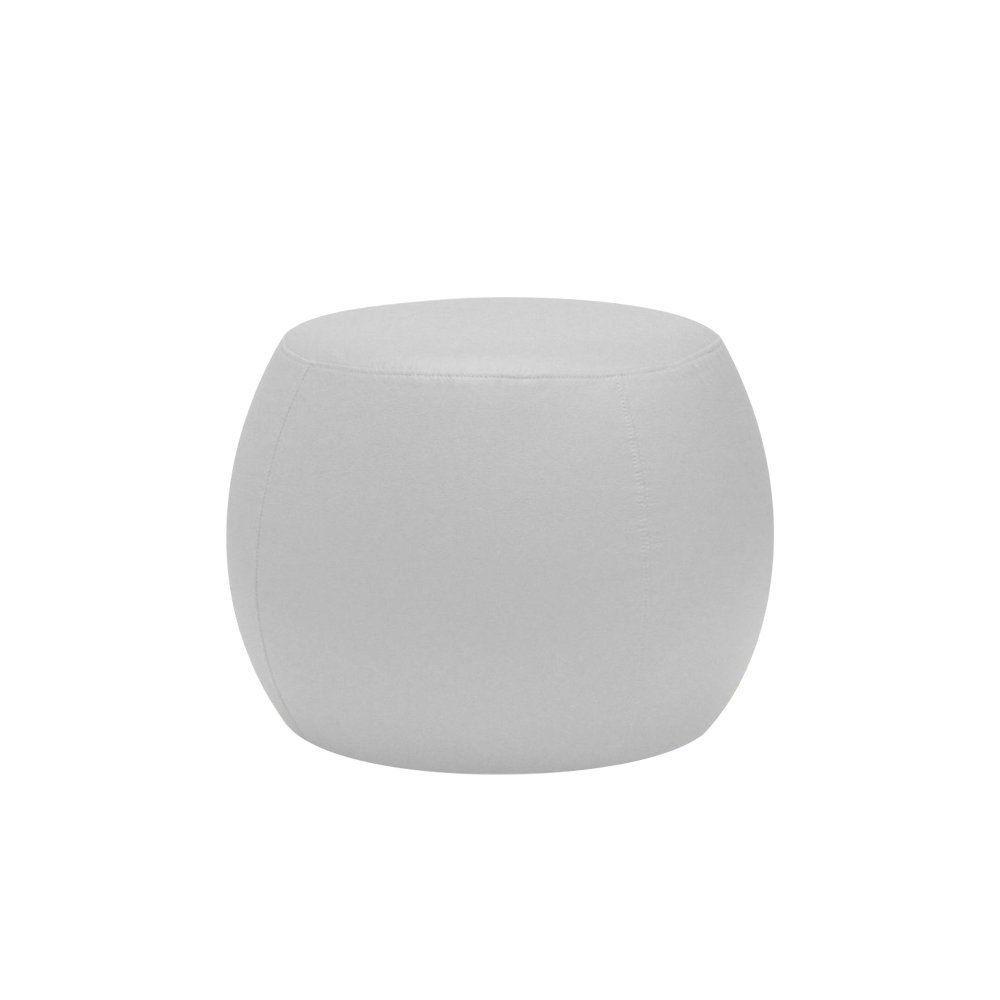 Puff Cleo 55cm Corano Branco - Gran Belo