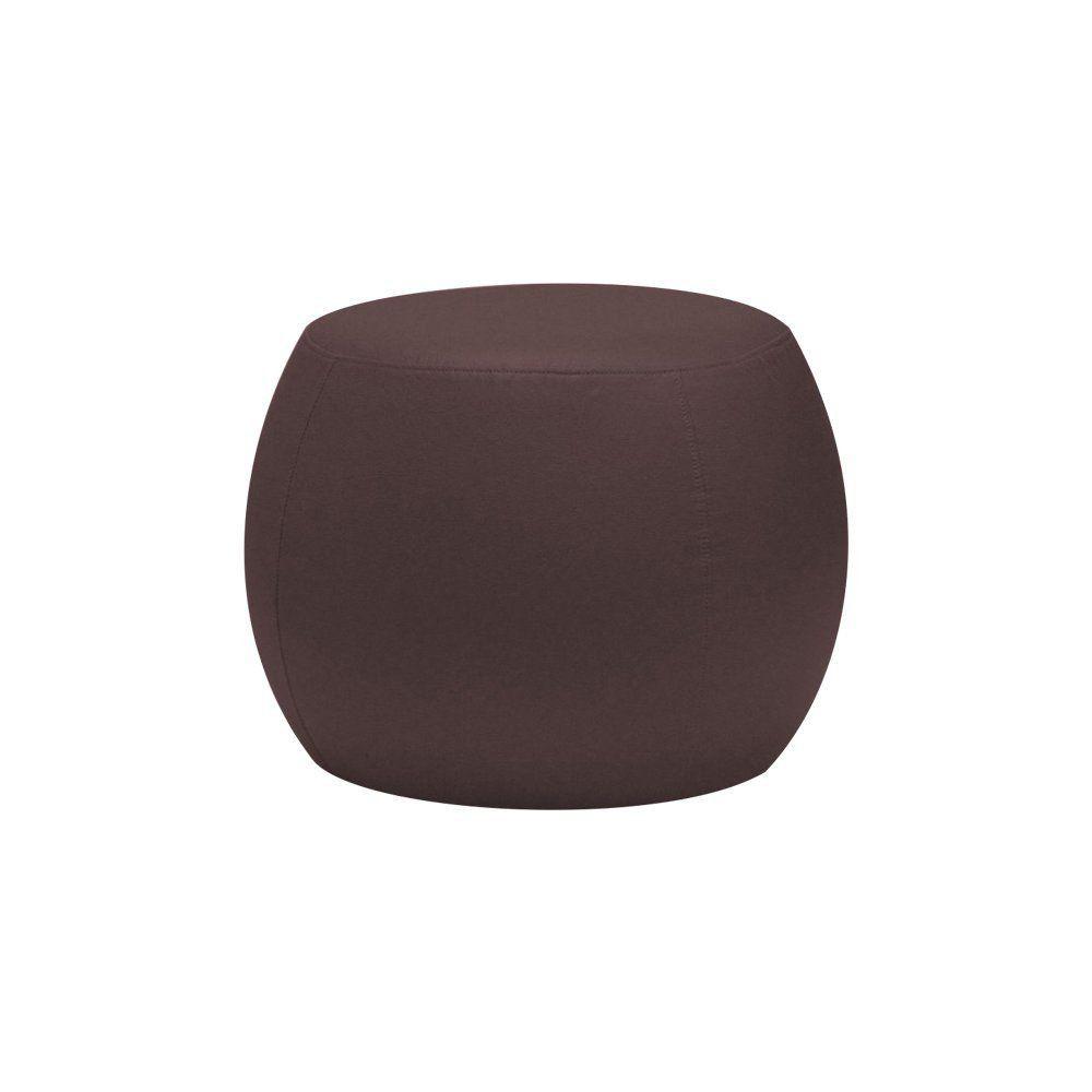 Puff Cleo 55cm Corano Marrom - Gran Belo