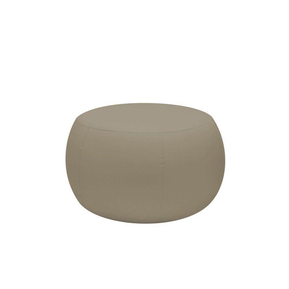 Puff Cleo 70cm Corano Bege Escuro - Gran Belo