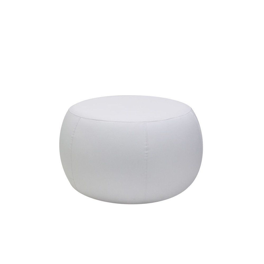 Puff Cleo 70cm Corano Branco - Gran Belo