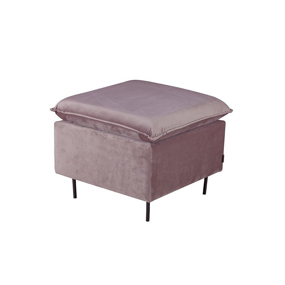 Puff Decorativo Decore 60cm Veludo Rosê - Gran Belo