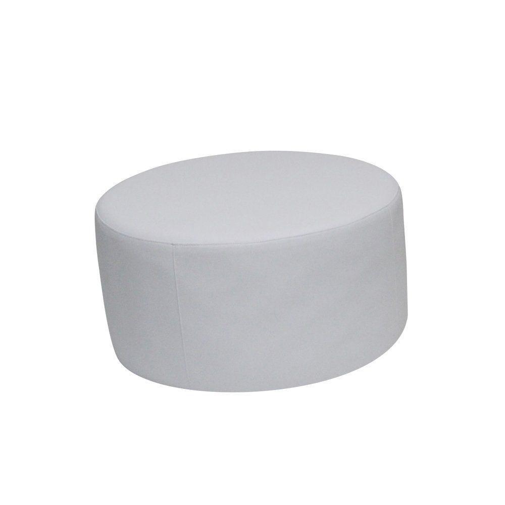 Puff Decorativo Luzia Corano Branco - Gran Belo