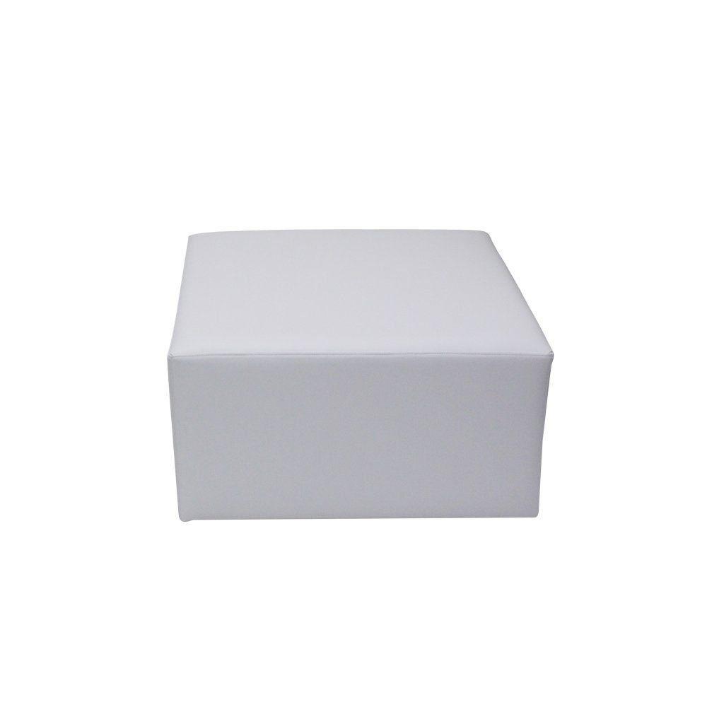 Puff Decorativo Tobias Corano Branco - Gran Belo