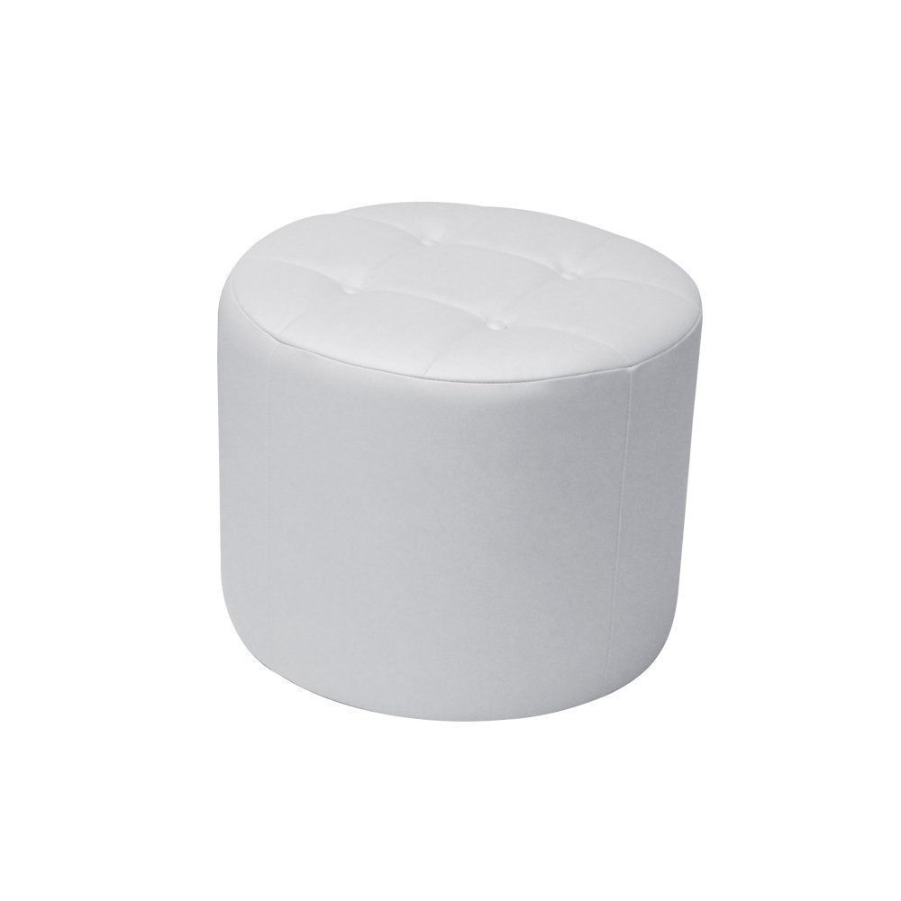 Puff Decorativo Vermont 50cm Cipatex Branco - Gran Belo