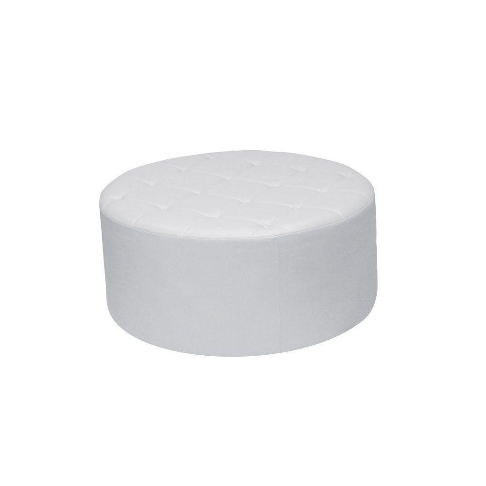 Puff Decorativo Vermont 95cm Cipatex Branco - Gran Belo