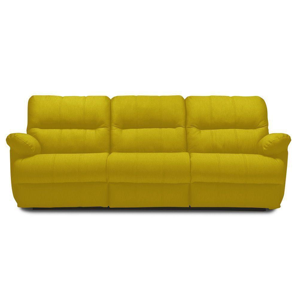 Sofá 3 Lugares Sleep 246cm Elétrico Suede Animale Amarelo - Gran Belo