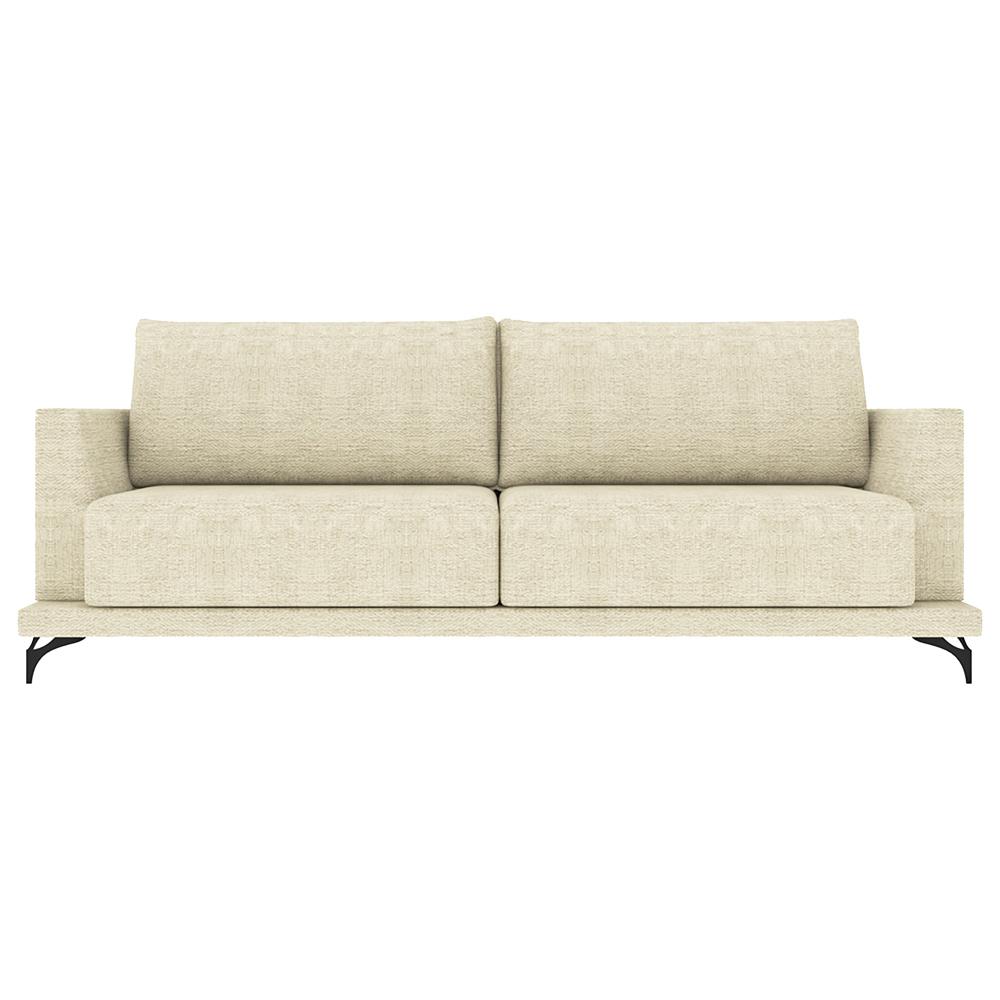 Sofá Decorativo Sala de Estar 230cm Maggie Linho Bege - Gran Belo
