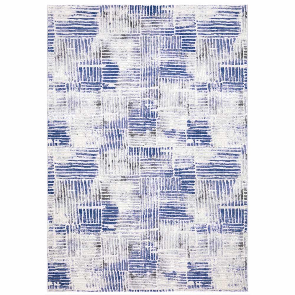 Tapete Decorativo Sala de Estar Simba 300x400 Abstrato Azul - Gran Belo