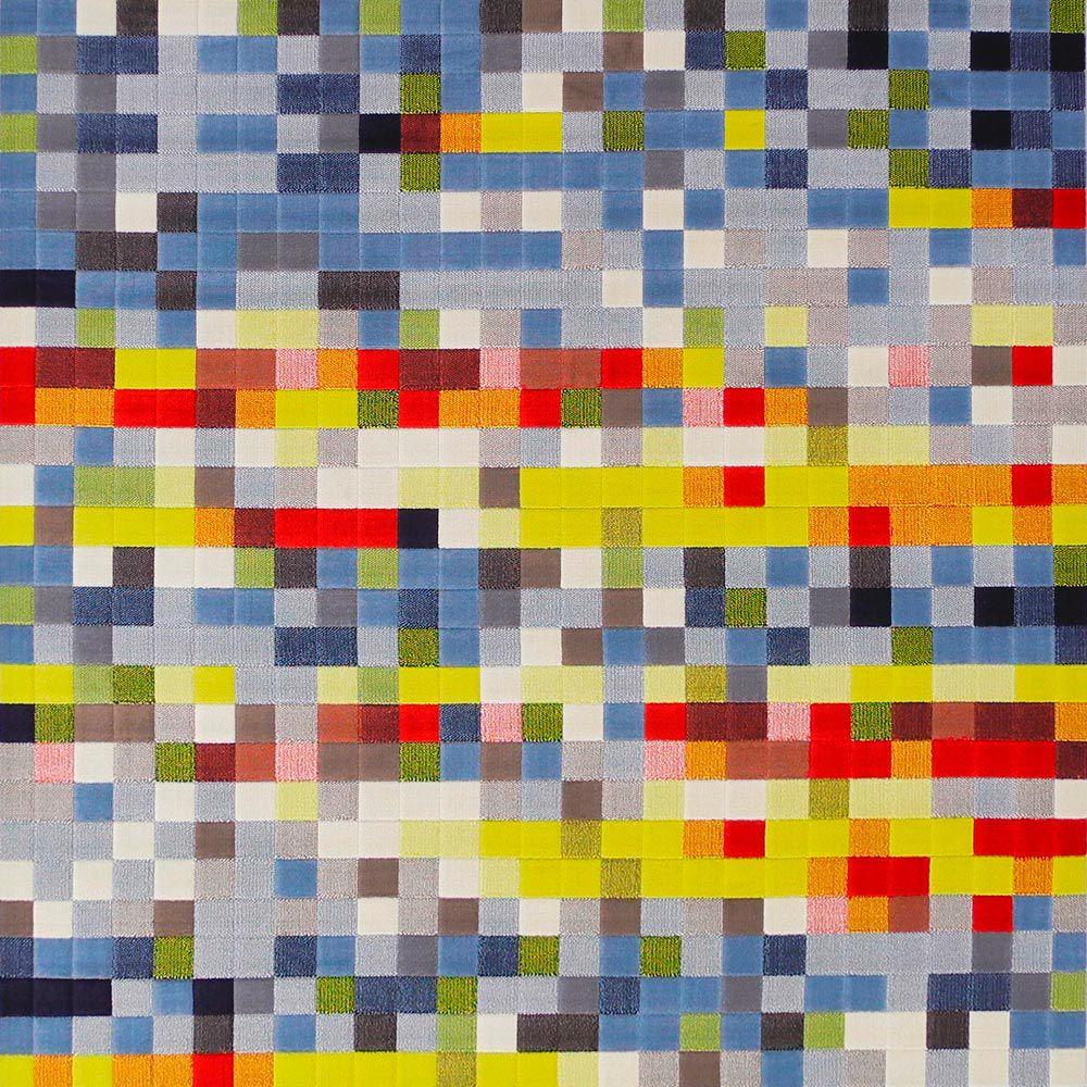 Tapete Para Sala de Estar Pixel 2,00x2,50 Colorido - Tapetes São Carlos