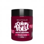 BeautyColor Máscara Pigmentante Color Pots Vermelho Candy - 240g