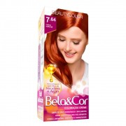 Kit BeautyColor Bela & Cor 7.64 - Ruivo Natural