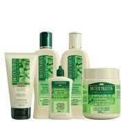 Kit Bio Extratus Antiqueda Jaborandi - Shampoo, Condicionador, Banho de Creme, Finalizador e Tônico Capilar