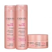 Kit Cadiveu Hair Remedy Home Care - Shampoo, Condicionador e Máscara de Tratamento