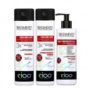 Kit Eico Color Life Profissional - Shampoo, Condicionador e Finalizador