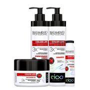 Kit Eico Color Life Profissional - Shampoo, Condicionador, Máscara e Ampola